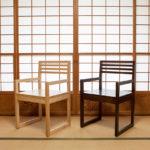桐椅子 木地と茶色