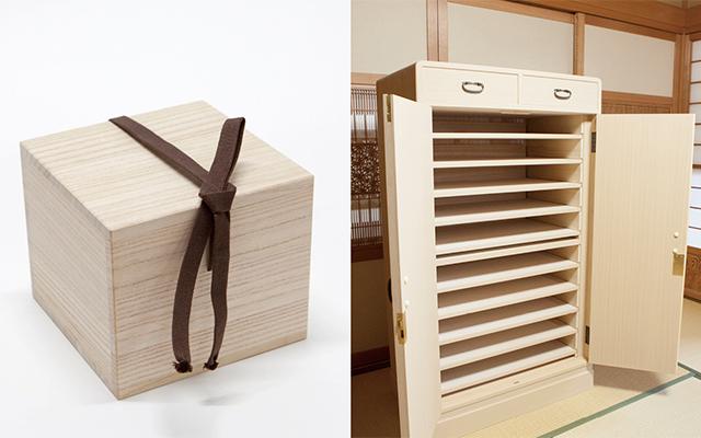 桐箱と加茂桐箪笥