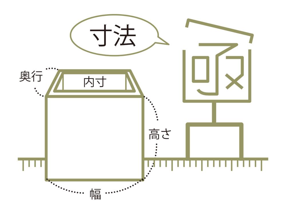 桐箱のオーダー時 寸法